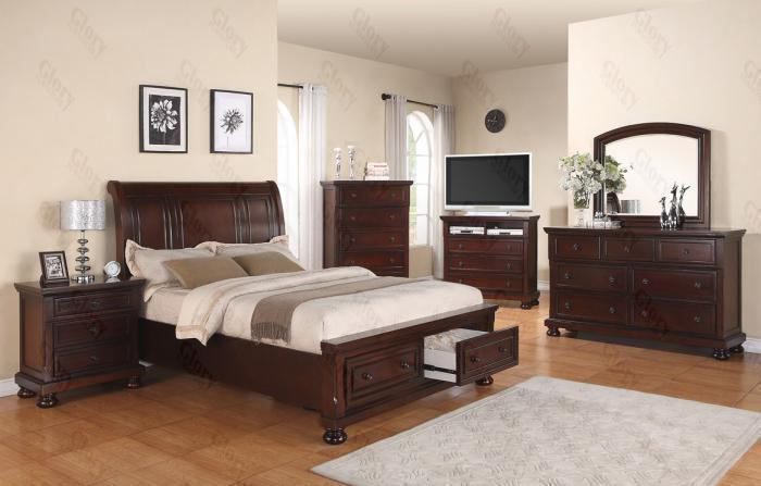 ashley furniture sleigh bed with drawers 2