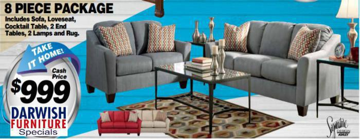 Darwish Furniture New York City Ashley Furniture Dealer 8 Pc Living Room Package 999