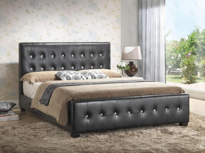 Upholstered Panel Bed Black (Queen, Full, or Twin),Glory Furniture Specials