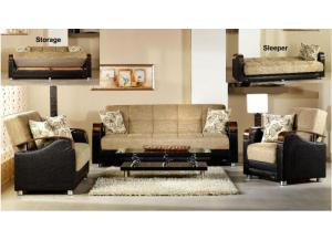 Luna Sofa & Love Seat Euro Sleeper