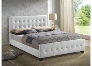 Upholstered Panel Bed (Queen, Full, or Twin)